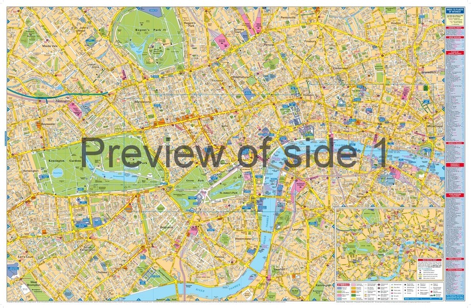London Street Map large scale London map by Bensons MapGuides – Large London Map