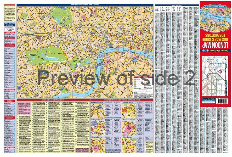 London Map Bus Map Guide For Visitors By Bensons MapGuides - London map guide