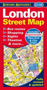 9781898929482 London Street Map (Bensons MapGuides)