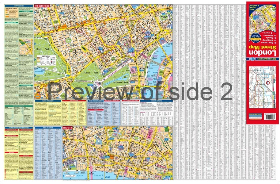 London Street Map Large Scale London Map By Bensons Mapguides
