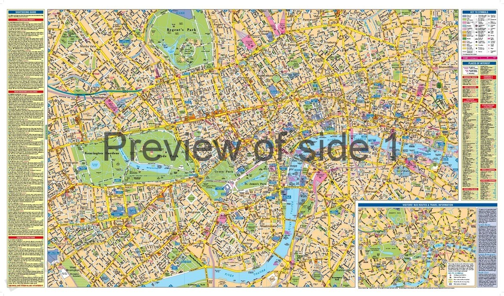 London Map Guide.London Visitors Map Including A Superscale West End Map By