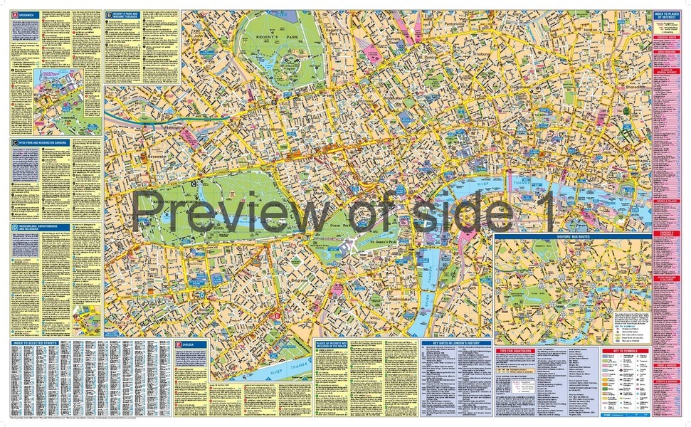 Visitors London Map Guide With Sightseeing Walks By - London map guide