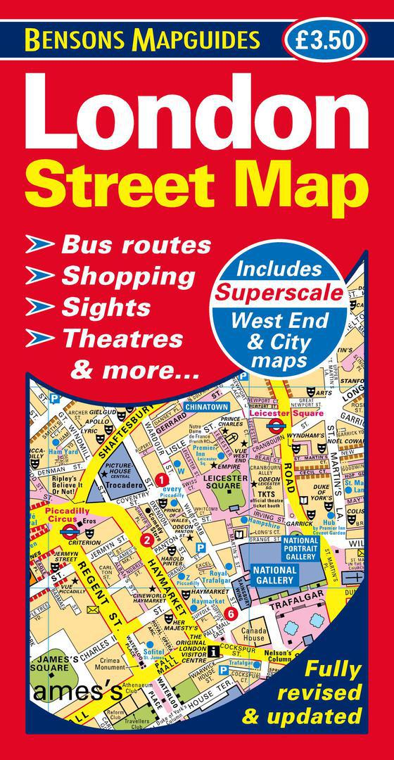 Street Map London West End.London Street Map Large Scale London Map By Bensons Mapguides